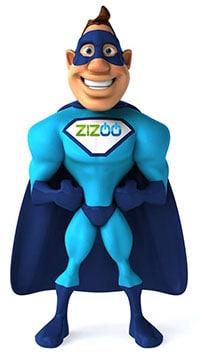 Onze ZIZOO mascotte. Een held in reparaties